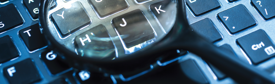 magnifying glass keyboard