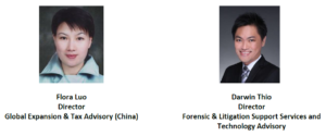 global expansion & tax advisory director (china) and forensic & litigation support services and technology advisory director