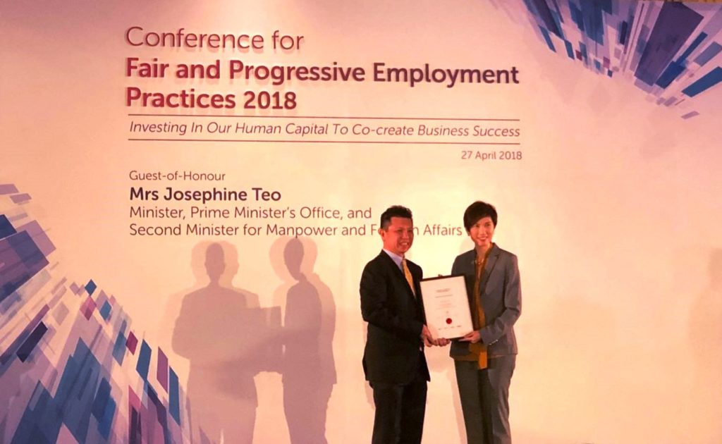 mid-tier accounting firm in singapore awarded human capital partner by tafep